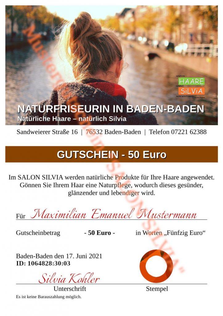 Salon Silvia - Gutschein